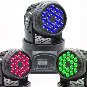 Moving Head 18 Leds Cree -  3w RGB